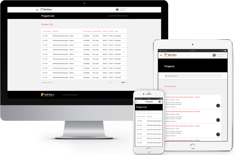 Rail Diary Website Design and Development